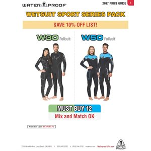 'WETSUIT SPORT PACK' PROGRAM PRICING