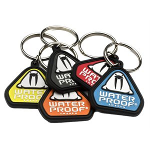560060Y WATERPROOF LOGO KEY CHAIN - YELLOW